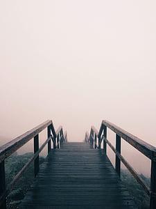 black wooden stair
