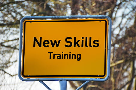 New Skills Training signage