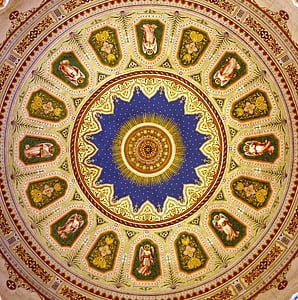 ceiling with religious artwork