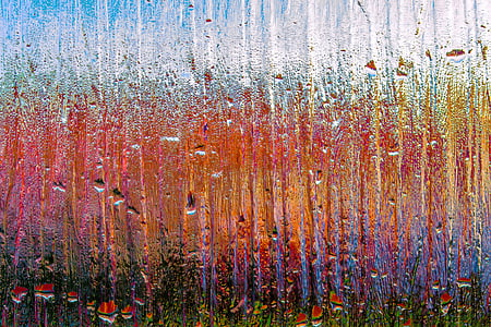 multicolored photo of a frosted glass with droplets