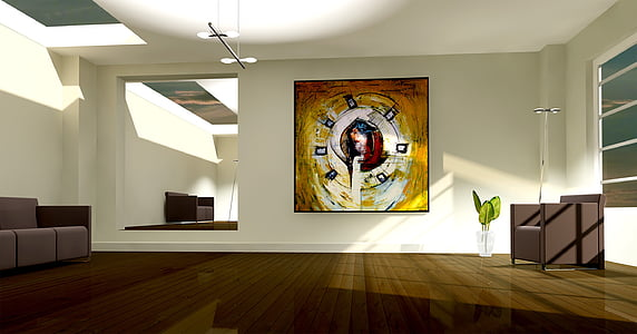 painting hang on wall