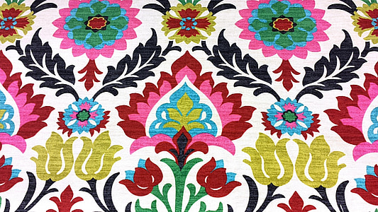 multicolored floral mat