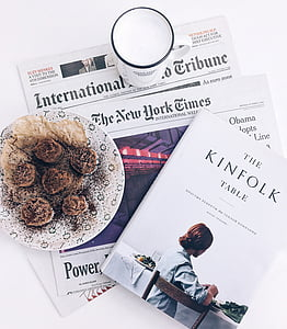 International Tribune The New York times newspaper and The Kinfolk table book