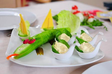 vegetable designs on plate