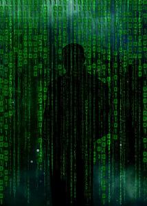 green binary wallpaper