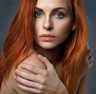 woman in brunette hair
