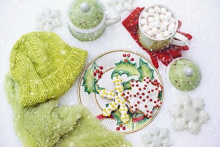 Christmas-themed tabletop overlay