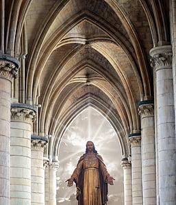 Jesus Christ resurrection inside cathedral