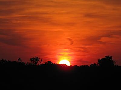 landscape photograph of sunset