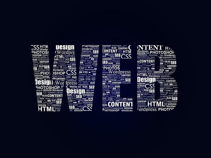 WEB text on black background