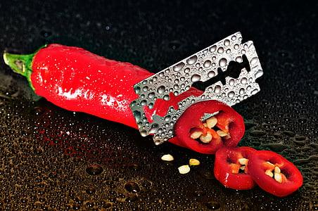 blade in cut chilli