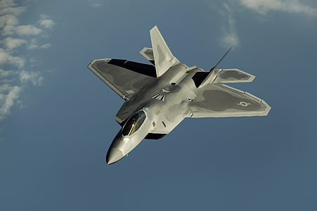 low angle photography of fighter jet