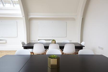 rectangular black wooden dining set