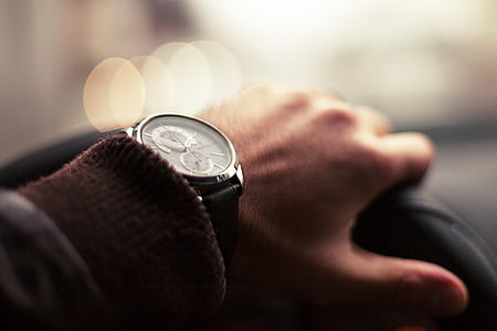 person's wearing watch
