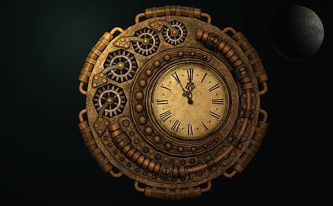 roman numerical clock at 11:55
